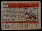 1957 Topps #73  George Crowe  Back Thumbnail