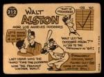 1960 Topps #212   Walter Alston Back Thumbnail