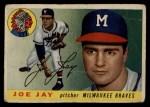 1955 Topps #134   Joey Jay Front Thumbnail