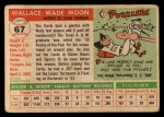 1955 Topps #67 COR Wally Moon  Back Thumbnail