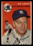 1954 Topps #5   Eddie Lopat Front Thumbnail