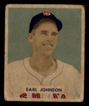 1949 Bowman #231  Earl Johnson  Front Thumbnail