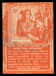 1957 Topps Isolation Booth #48   Fastest Land Speed Ever Recorded Back Thumbnail