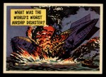 1957 Topps Isolation Booth #43   World's Worst Airship Disaster Front Thumbnail