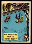 1957 Topps Isolation Booth #65  Who Parachuted from the Lowest Height  Front Thumbnail