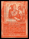 1957 Topps Isolation Booth #71  Language Spoken by the Most People  Back Thumbnail