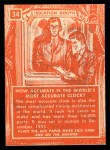 1957 Topps Isolation Booth #34  World's Most Accurate Clock  Back Thumbnail
