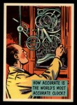 1957 Topps Isolation Booth #34  World's Most Accurate Clock  Front Thumbnail