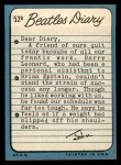1964 Topps Beatles Diary #52 A  John Lennon Back Thumbnail