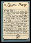 1964 Topps Beatles Diary #43 A Ringo Starr  Back Thumbnail