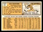 1963 Topps #341 ERR Jack Baldschun  Back Thumbnail