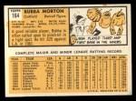 1963 Topps #164  Bubba Morton  Back Thumbnail