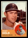 1963 Topps #435   Woodie Held Front Thumbnail