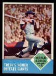 1963 Topps #146  1962 World Series - Game #5 - Tresh's Homer Defeats Giants  -  Tom Tresh Front Thumbnail