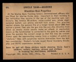 1941 Gum Inc. Uncle Sam Home Defense #66  Machine Gun Practice  Back Thumbnail