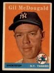 1958 Topps #20 WN Gil McDougald  Front Thumbnail