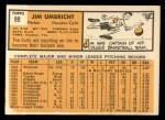 1963 Topps #99   Jim Umbricht Back Thumbnail