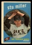 1959 Topps #183   Stu Miller Front Thumbnail