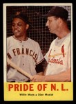 1963 Topps #138  Pride of NL    -  Willie Mays / Stan Musial Front Thumbnail