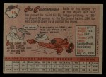 1958 Topps #168  Joe Cunningham  Back Thumbnail