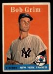 1958 Topps #224  Bob Grim  Front Thumbnail