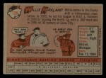 1958 Topps #128   Willie Kirkland Back Thumbnail