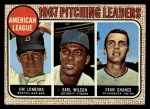1968 Topps #10 COR AL Pitching Leaders  -  Dean Chance / Jim Lonborg / Earl Wilson Front Thumbnail