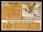 1963 Topps #354   Dom Zanni Back Thumbnail