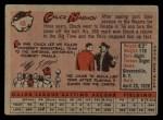 1958 Topps #48   Chuck Harmon Back Thumbnail