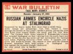 1965 Philadelphia War Bulletin #18   Blizzard of Steel Back Thumbnail