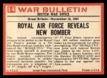 1965 Philadelphia War Bulletin #14   Wooden Weapon Back Thumbnail