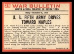 1965 Philadelphia War Bulletin #26   Inch by Inch Back Thumbnail