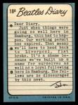 1964 Topps Beatles Diary #18 A  John Lennon Back Thumbnail