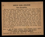 1941 Gum Inc. Uncle Sam Home Defense #5  Gas Discipline  Back Thumbnail