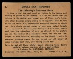 1941 Gum Inc. Uncle Sam Home Defense #6  The Infantry's Supreme Duty  Back Thumbnail