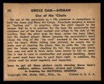 1941 Gum Inc. Uncle Sam Home Defense #39   Use Of The Chute Back Thumbnail