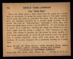 1941 Gum Inc. Uncle Sam Home Defense #70   The Side Slip Back Thumbnail