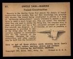 1941 Gum Inc. Uncle Sam Home Defense #87  Trench Construction  Back Thumbnail