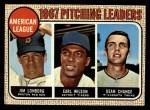 1968 Topps #10 COR AL Pitching Leaders  -  Dean Chance / Jim Lonborg / Earl Wilson Front Thumbnail