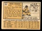 1963 Topps #355   Dean Chance Back Thumbnail