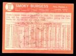 1964 Topps #37   Smoky Burgess Back Thumbnail