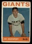 1964 Topps #82   Jim Davenport Front Thumbnail