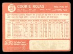 1964 Topps #448   Cookie Rojas Back Thumbnail