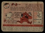 1958 Topps #257   Hal W. Smith Back Thumbnail