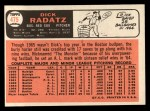 1966 Topps #475  Dick Radatz  Back Thumbnail