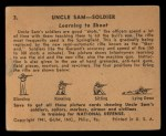 1941 Gum Inc. Uncle Sam Home Defense #3  Learning To Shoot  Back Thumbnail