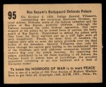 1938 Gum Inc. Horrors of War #95   Ras Seyum's Bodyguard Defends Palace Back Thumbnail