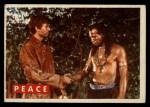 1956 Topps Davy Crockett #33 GRN Peace   Front Thumbnail