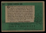 1956 Topps Davy Crockett #34 GRN Taking Careful Aim   Back Thumbnail