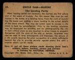 1941 Gum Inc. Uncle Sam Home Defense #33   The Landing Party Back Thumbnail